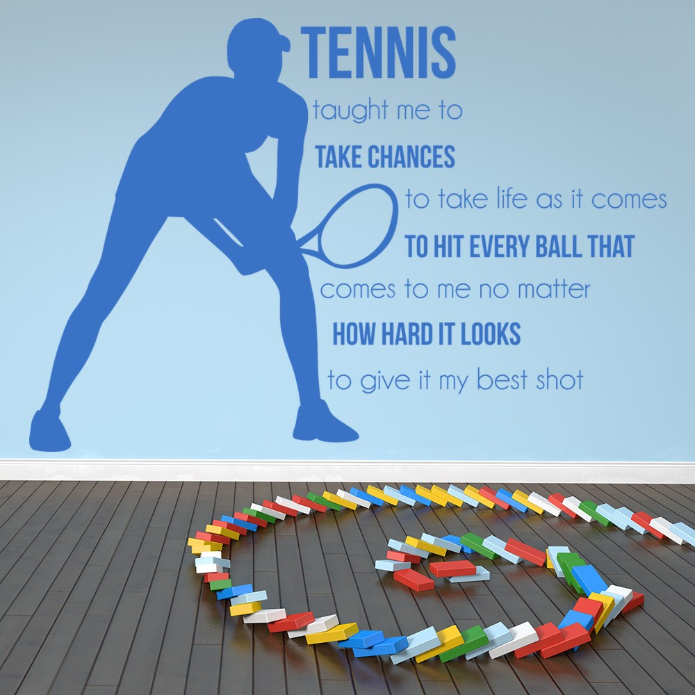 Take Chances Wall Sticker Tennis Quote Wall Decal Sports