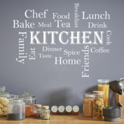 Chef Wall Decor Kitchen Mirrored Cabinets Chef, Food, Quotes & Slogans Stickers ...
