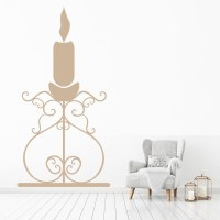Candle Chandelier Wall Sticker Decorative Wall Art