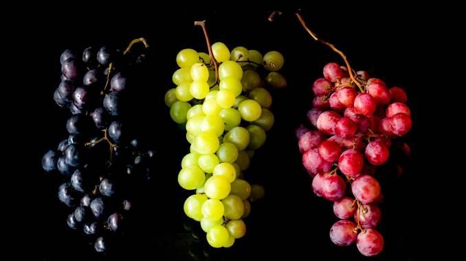 icy wine-marinated grapes, icookstuff
