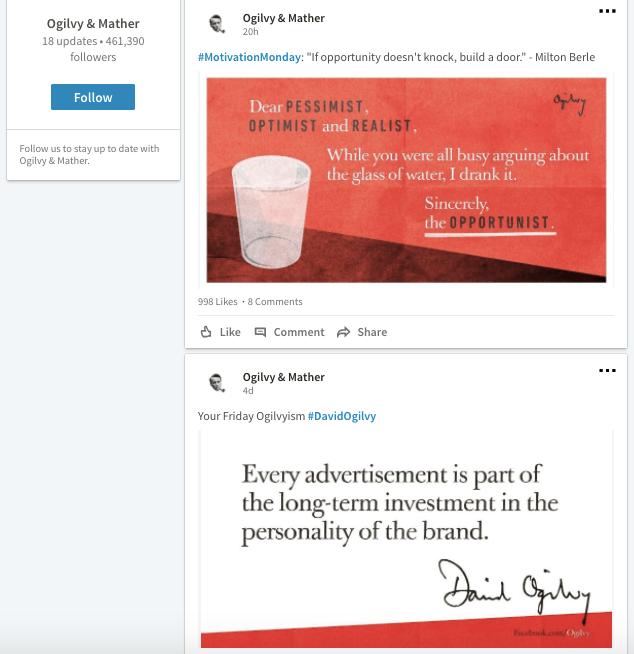 Ogilvy Example LinkedIn