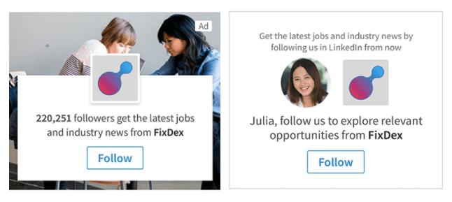 dynamic ads linkedin