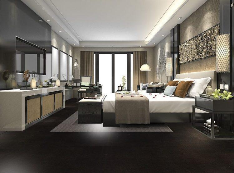 Jet Black Forna Cork Tiles Eco Bedroom Interior Design Architecture Photos Icork Floor Store