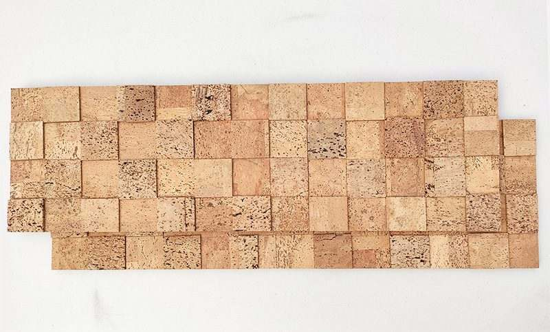 wood cubes 1 2 12mm cork peel stick wall panels 35 19 sq ft case