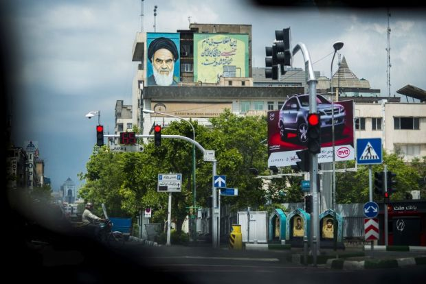 Teheran, Iran. Ayatollah Khomeini became the supreme religious leader of the Islamic Republic of Iran in after the revolution in 1979. © Finn Våga, Stavanger Aftenblad. Photo.