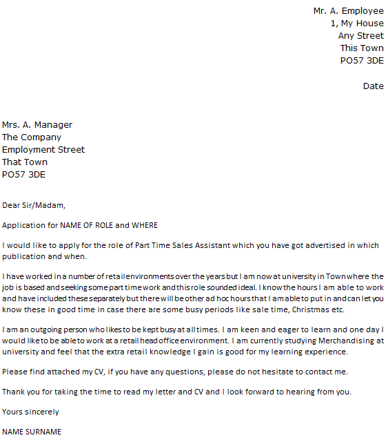 Poundland Cover Letter Example  icoverorguk