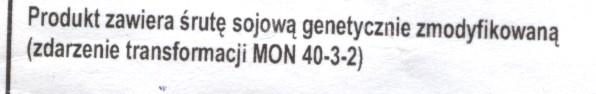 etykietka provimi2 GMO Modyfikcje Genetyczne