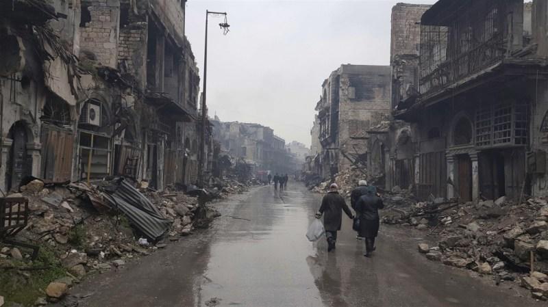 Devastation in Aleppo