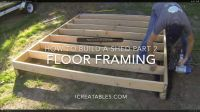 How To Build A Shed Part 2  How To Frame a Shed Floor ...