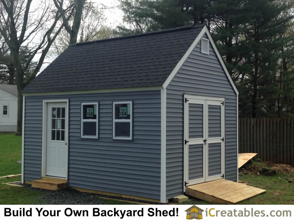 12x16 Garden Shed Plans Built In New Jersey