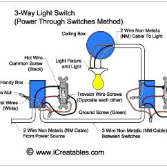 3 Way Switch Diagram 2 Lights Pressure Wiring Square D Wire A Three Icreatables