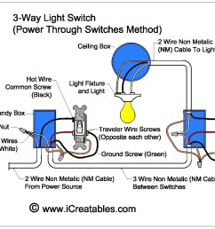wire a three way switch icreatables com in different kinds of circuit switches schematic wiring diagram 3 way switch [ 1241 x 989 Pixel ]