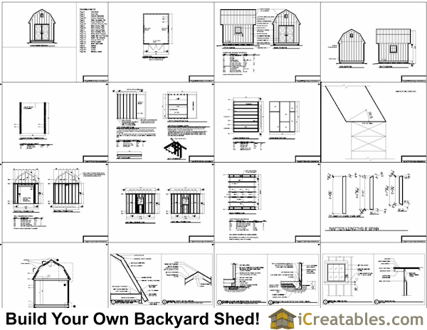 Wooden Shed 10 X 12 Gambrel Shed Plans 24x24 Concrete Auto