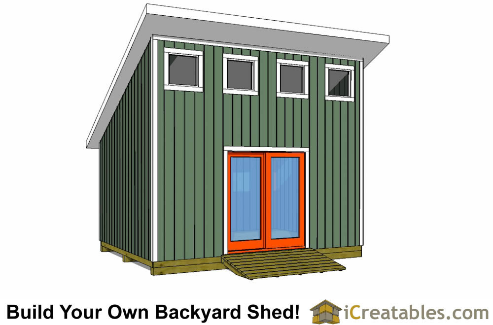 12x16 Lean To With Loft Shed Plans
