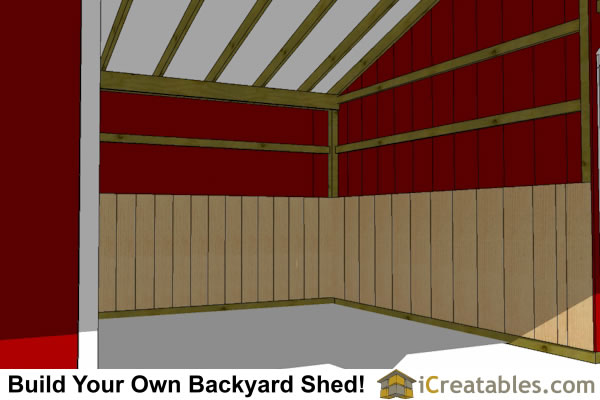 3 Stall Horse Barn Plans With Lean To And Tack Room 3rd