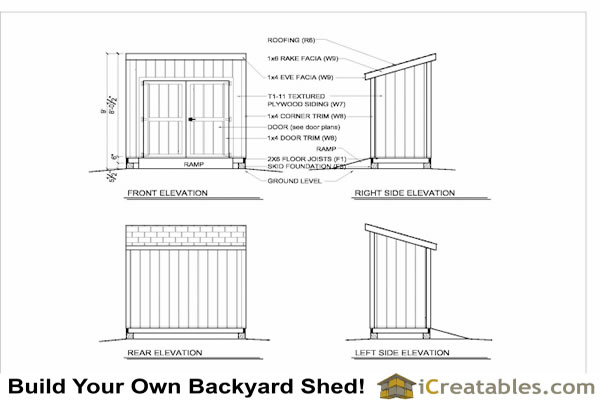 Useful 4x8 shed blueprints ~ Cerita kecil