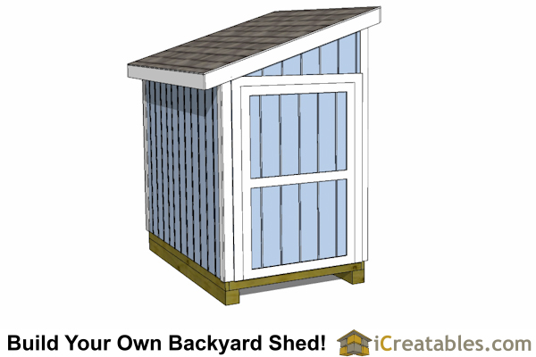 5x8 Lean To Shed Plans  Icreatables SHEDS