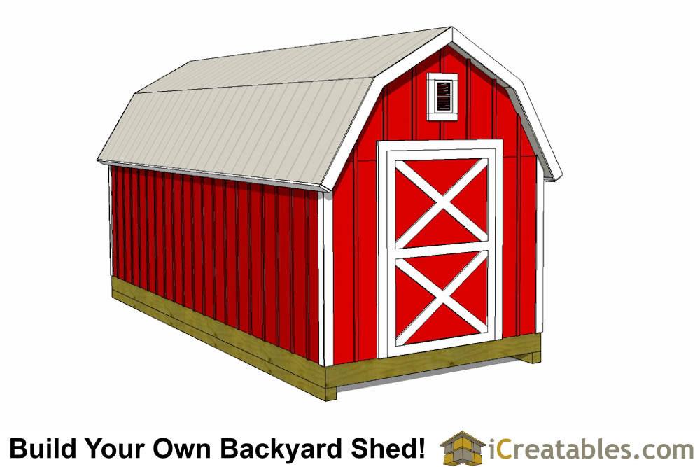 Gambrel Storage Shed Plans