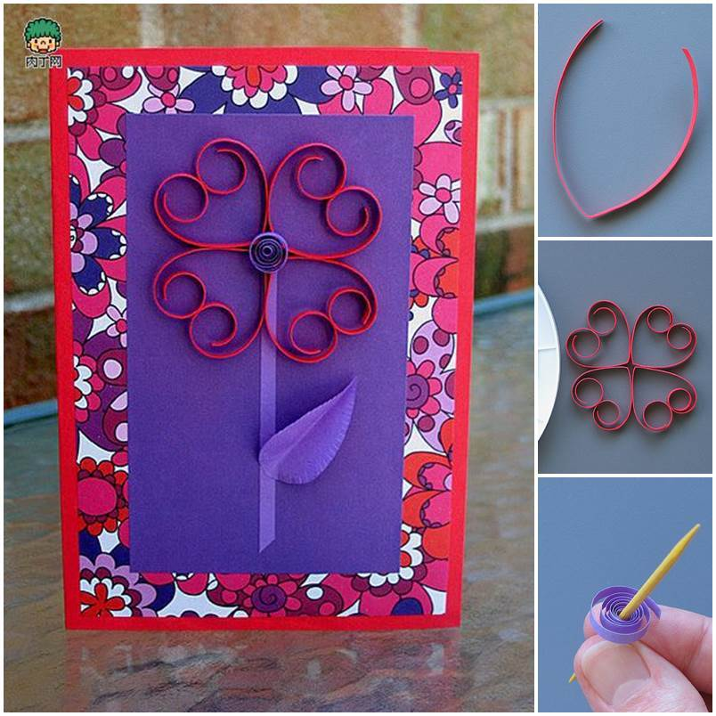 DIY 3D Flower Valentine's Day Card