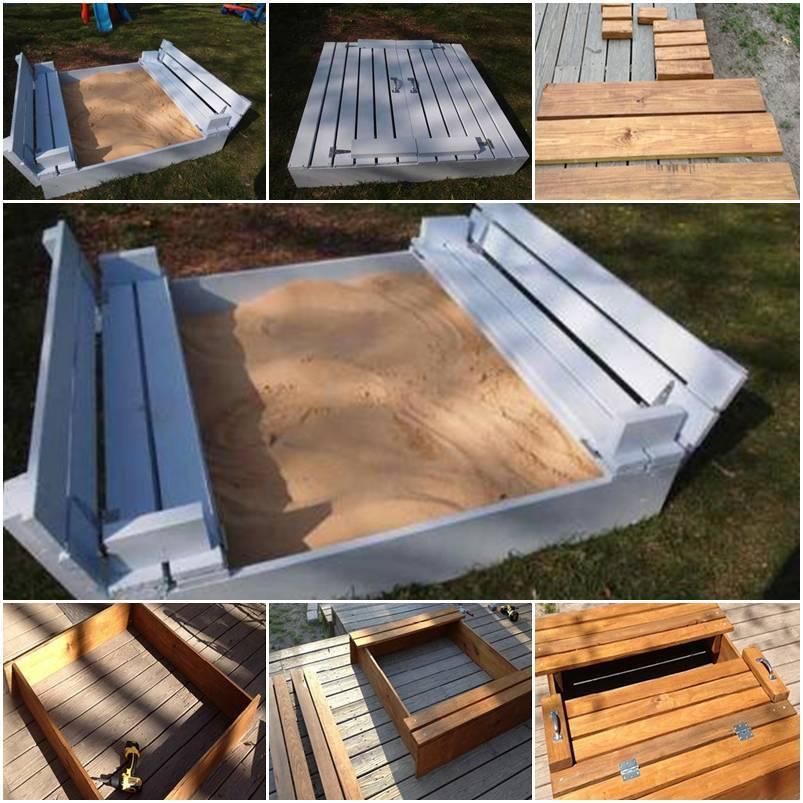 DIY Sandbox for Kids 1