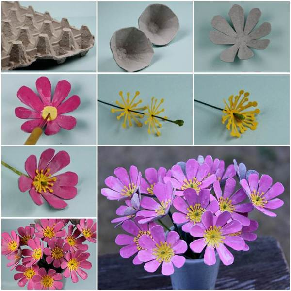 20 Pinterest Recycled Egg Carton Into A Tulip Pictures And Ideas On
