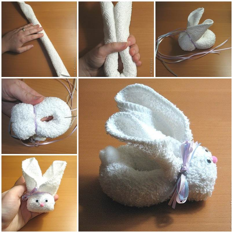 DIY Adorable Towel Bunny