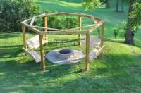 DIY Backyard Fire Pit with Swing Seats