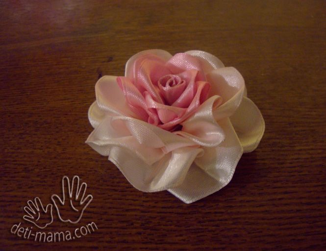 DIY Beautiful Satin Ribbon Rosette