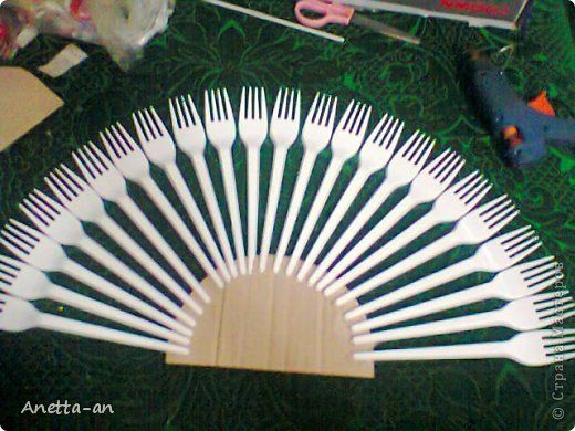 DIY Decorative Fan from Plastic Forks
