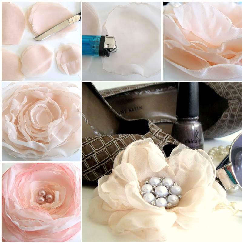DIY Delicate Chiffon Flower