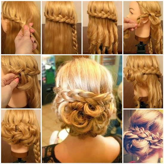 DIY Elegant Braided Low Bun Hairstyle