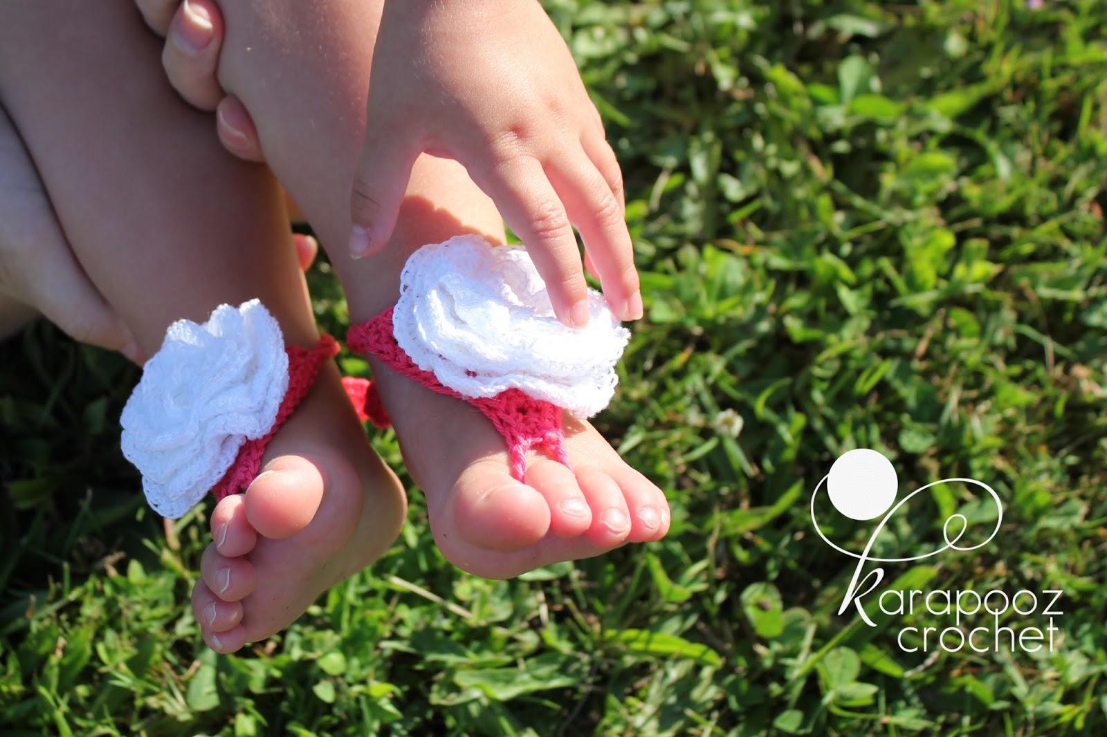 Babies Barefoot Sandals Crochet Pattern Free