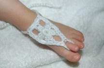 Baby Barefoot Sandals Crochet Pattern