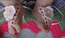 Newborn Baby Crochet Sandals Pattern-Free