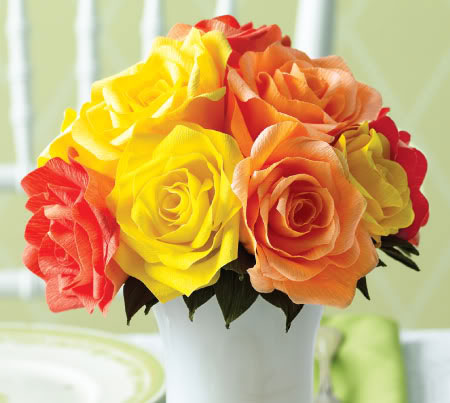 How To DIY Easy Crepe Paper Rose