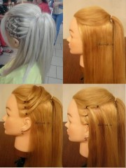 diy high ponytail with side