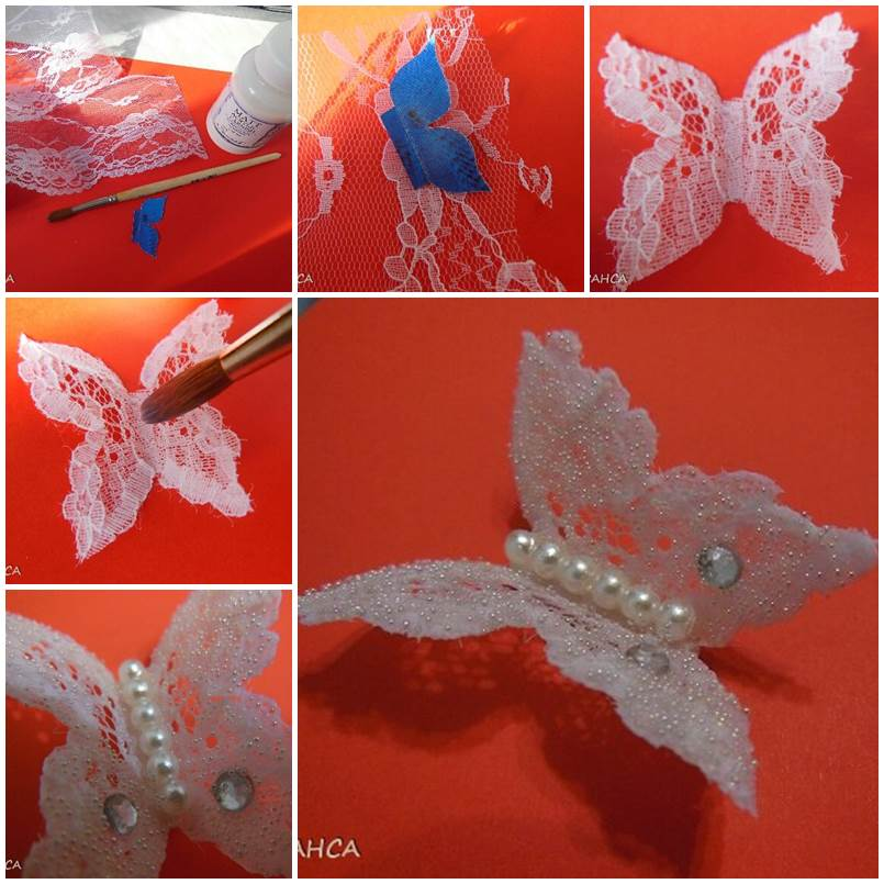 How to Make Beautiful Lace Butterfly