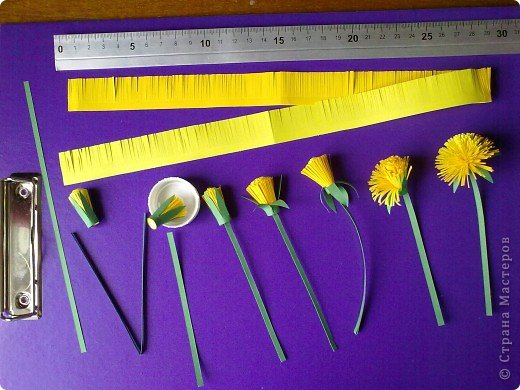 How to Make Beautiful Paper Dandelions