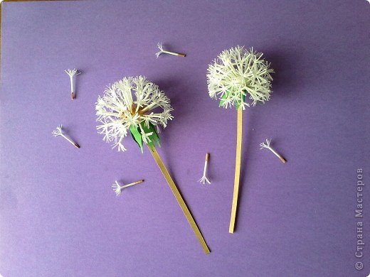 How to Make Beautiful Paper Dandelions  iCreativeIdeascom