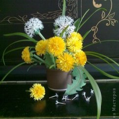 Ideas How To Decorate Living Room With Wood Stove Make Beautiful Paper Dandelions | Icreativeideas.com