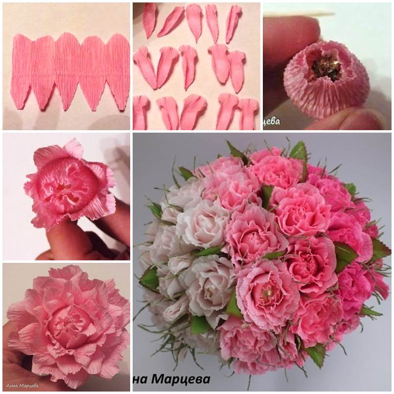 how to make easy paper flower bouquet