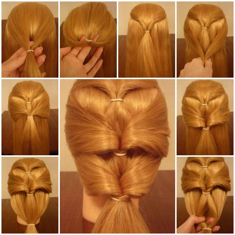 How To Make Inverted Ponytails Hairstyle DIY Tutorial