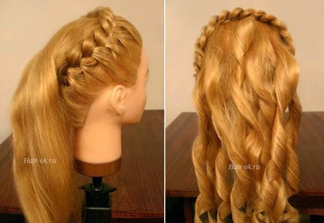 How To DIY Elegant Hairstyle With Braids And Curls