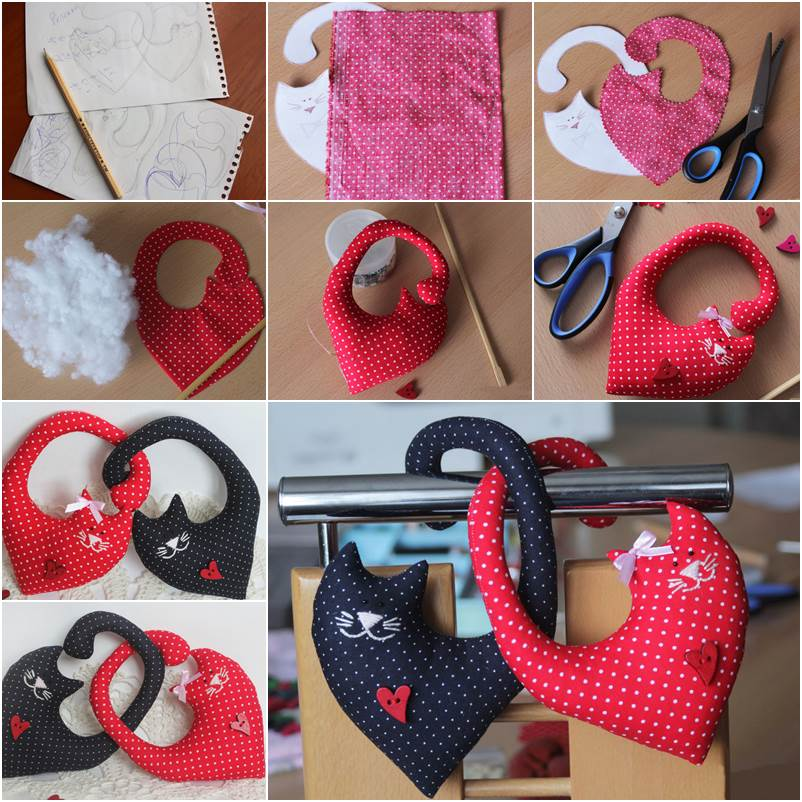 How to Make Couple Cat Plush Toys DIY Tutorial
