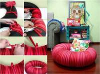 How to Make Pouf Chair from Old Tire DIY Tutorial