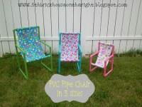 How to DIY PVC Pipe Toddler Chairs | iCreativeIdeas.com