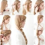 diy simple side braid hairstyle