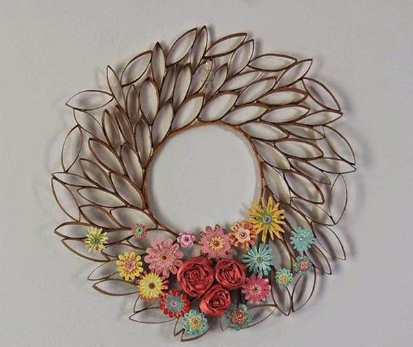 Wall Decor Toilet Paper Roll Crafts Arte Inspire