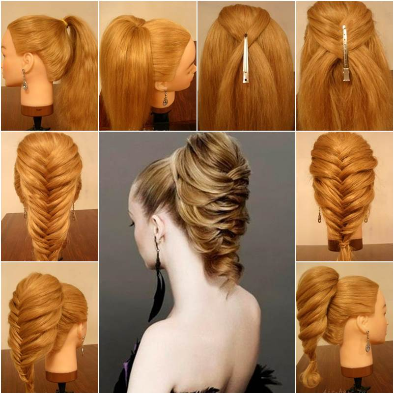 How to DIY Elegant Braided Fishtail Hairstyle