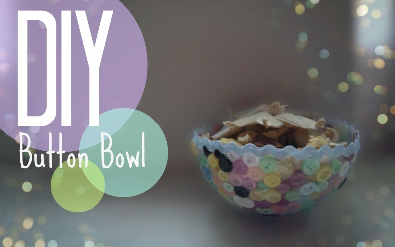 DIY Creative Button Bowl